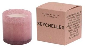 French Country Seychelles Glass Candle