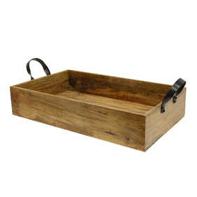 French Country Ploughmans Tray w Iron Handles Small