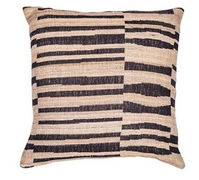 French Country Cushion Stripes Wool Silk