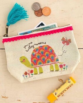 Natural Life Turtley Awesome Canvas Pouch - Mini