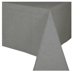 Madras Jetty Tablecloth - Charcoal 180x280cm