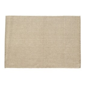 Raine & Humble Ribbed Place Mat - Taupe 38x48cm