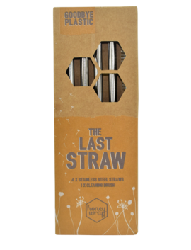 The Last Straw - Stainless Steel Straws - Pack of 4