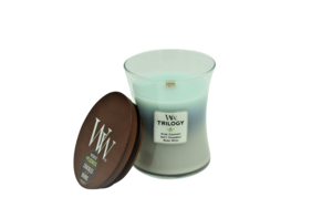 WoodWick Woven Comforts Trilogy Candle - Medium