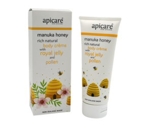 Apicare Manuka Honey Body Creme with Royal Jelly and Pollen 200g