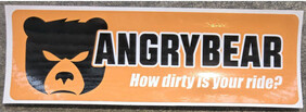 How dirty is your ride bumper sticker in orange