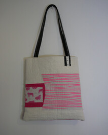 The Quilted Bag - Fluro Pink (Free shipping)
