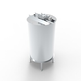 Blending tank with control box