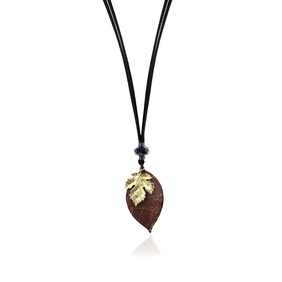 Changing Season Necklace - Maroon & Yellow Gold