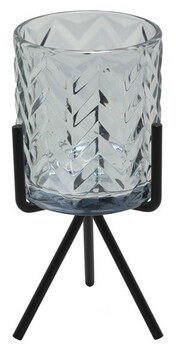 Glass Tealight Holder with Stand