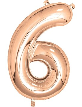 Giant Helium Number 6 - Rose Gold