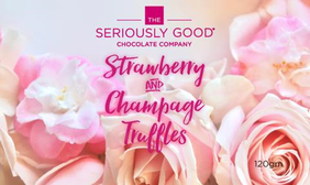 Floral Hearts - Strawberry & Champagne