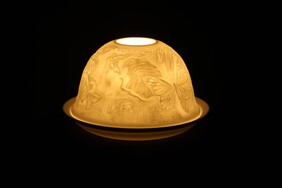 Porcelain Dome Light - Butterfly Forest