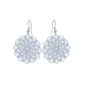 Lacey Circle Earrings - SIlver