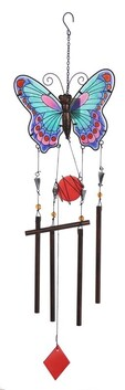 Butterfly Wind Chime Assorted Colours