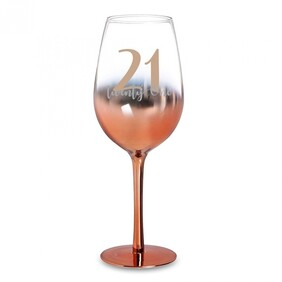 21 Rose Gold Ombre Wine Glass