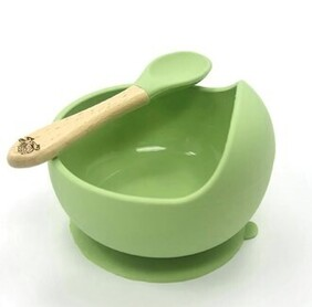 Moana Road Silicone Suction Bowl - Green