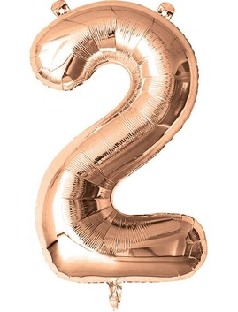 Giant Helium Number 2 - Rose Gold