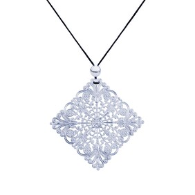 Lacey Diamond Necklace - Silver