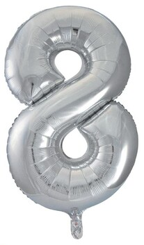 Giant Helium Number 8 - Silver