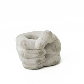 Right Hand Cement Planter