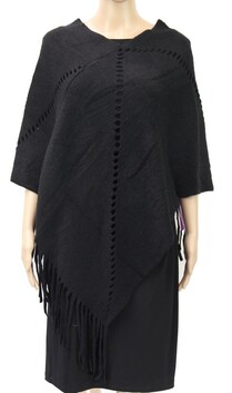 Holes in Line Poncho Assorted Colours