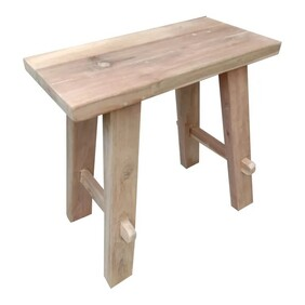 Natural Reclaimed Teak Wood Bench - Small