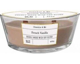 Soy Blend Double Woodwick Candle 400g - Vanilla