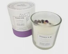 Amethyst Woodwick Candle 400g - Lavender