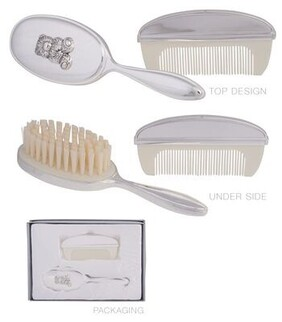 Silver Baby Brush and Comb Set