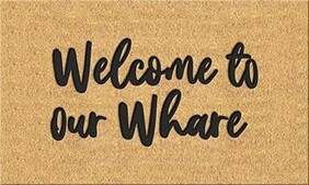 Moana Road Doormat - Small Welcome to our Whare