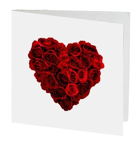 Red Rose Heart Gift Card