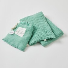 Double Muslin Cotton Blanket with Bag