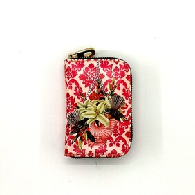 Kiwiana Card Holder - Red Fantails