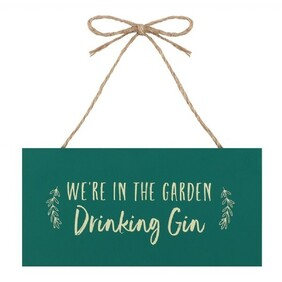 Hanging Plaque - Drinking Gin