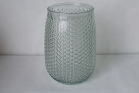 Glass Vase - Clear Dots