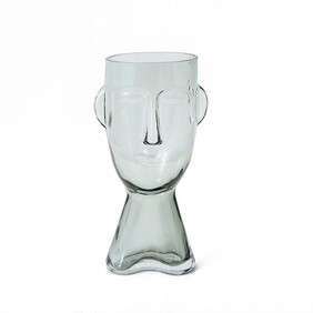 Claydon & Brook Glass Face Vase - Large / Clear