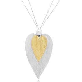 Amour Silver and Gold Necklace