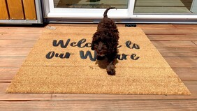 Moana Road Doormat - Welcome to our Whare