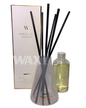WaxGlo Reed Diffuser 'W' Scented - White Tea Ginger