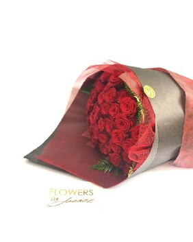 Amazing 50 Red Roses Bouquet