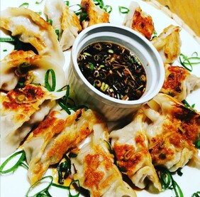 Asian Pork & Ginger Dumplings with our signature Dipping sauce (FROZEN)