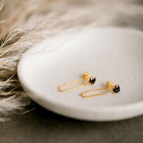 Silver Linings Collective - Miles Dropper Earrings - Gold