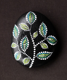 Little Leaves - Hand Painted Stone