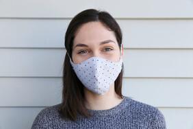 Silver Dot Cotton Face Mask