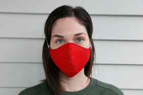 Red Dot Cotton Face Mask