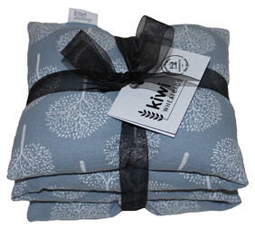 Winter Meadow Blue Jumbo Cotton Wheat Bag