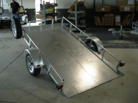 SOLD OUT Easy Tilt Closed Deck Trailer with 3 year warrant and 1 year registration