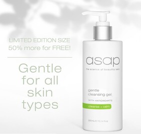 ASAP 300ml Gentle Cleanse 50% more FREE