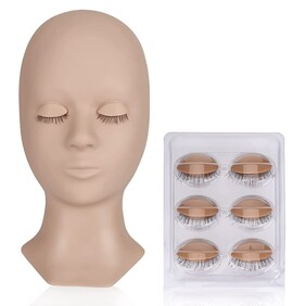 Mannequin with removable eye-lids